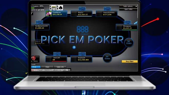 Pik'em Poker: новый игровой формат на 888 Poker