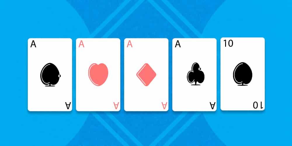 Как собрать каре в покере. Гайд от рума 888pokergame.