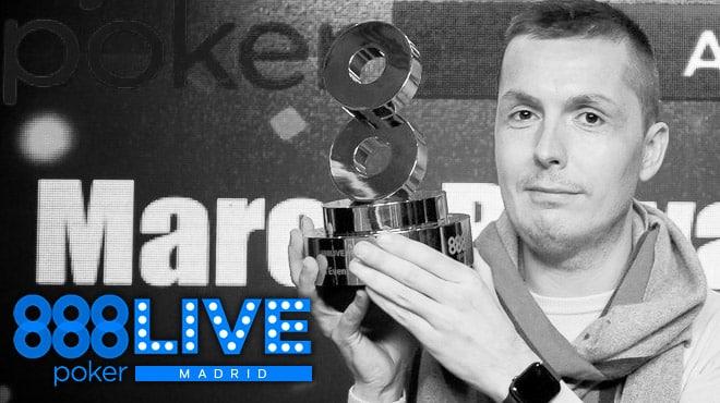 Марко Биаваски — победитель Главного события 888poker LIVE Madrid 2020