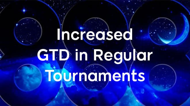 Увеличенные гарантии в регулярных турнирах